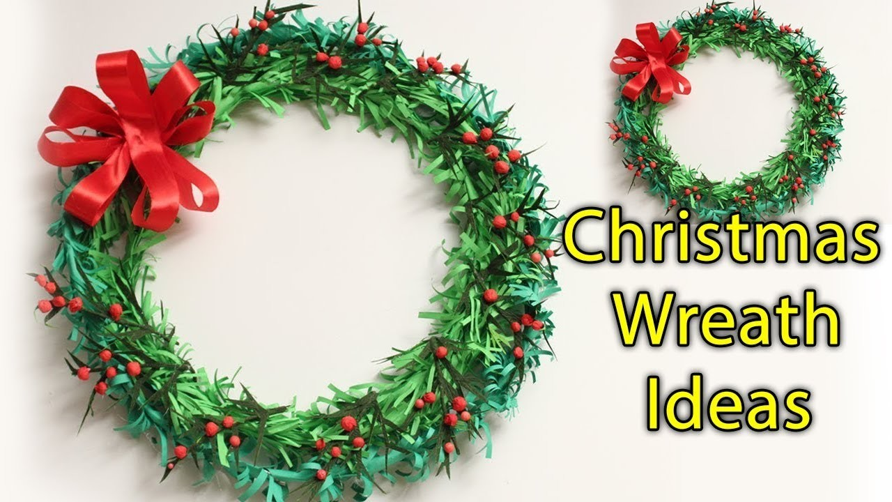 Paper Christmas Wreath Ideas.Decorating How To Make Paper Christmas Wreath Ideas Cute