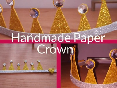 How to Make Paper Crown for Birthday? 2019 @Simplified Crafts and Arts
