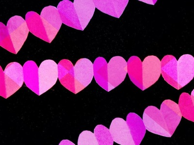 How to make paper heart garland. Valentine's day crafts.