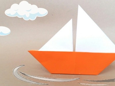 How to make Paper ⛵Sailboat.Easy Origami Paper Boat for Kids