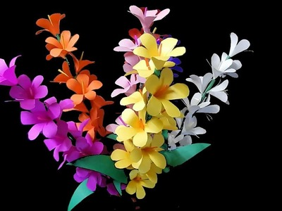 How to make paper stick flowers for flower vase