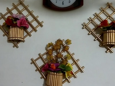 How to Make Paper Wall Hanging Decoration | DIY Home Decoration ideas | Newspaper recycling ideas