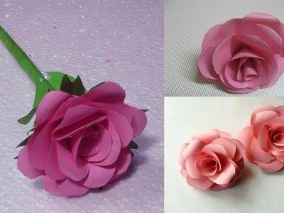 How to make Realistic Paper Rose |Simple ArtsNCrafts| Paper Rose|