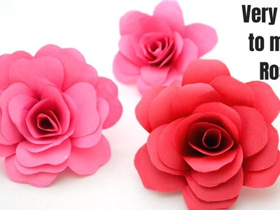 How to make rose with paper in Tamil | Tamil Crafts | Paper rose making