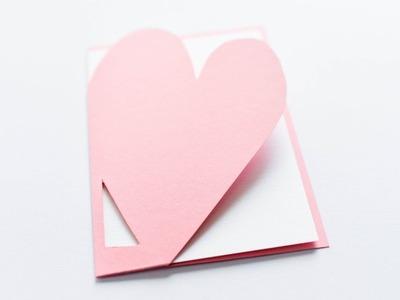 How to make : Simple Cute Card for Valentine's Day | Kartka Walentynkowa - Mishellka #327 DIY