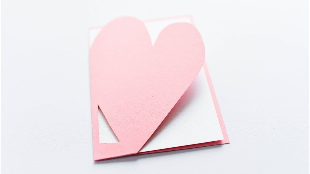 How to make : Simple Cute Card for Valentine's Day   Kartka Walentynkowa - Mishellka #327 DIY