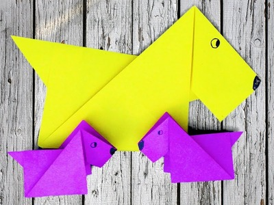 How to Make Simple Origami Dog in 5 minutes