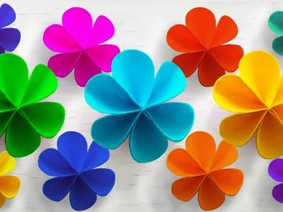 How to Make Simple Paper Flower   DIY Paper Flowers   Flower Making