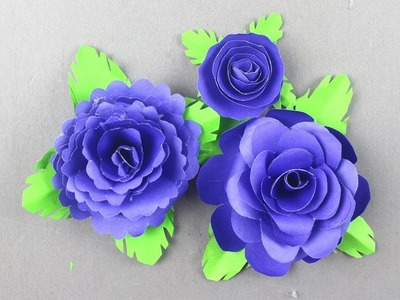 How to Make Small Rose Flower with Paper   Making Paper Flowers Step by Step   Paper Rose Flower