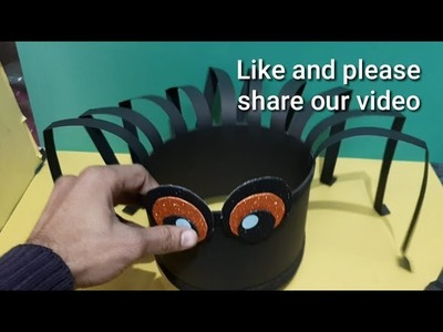 How to make  spider cap || fancy  dress  competition ideas for  kids ||