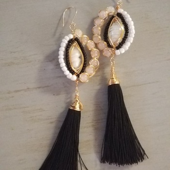 Maxi Tassels earrings