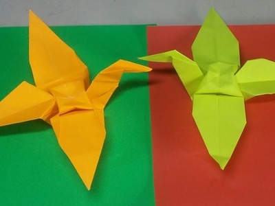 Step by step instructions how to make origami a bird. | 300x400