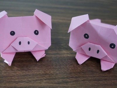 Origami Pig || How To Make Paper Origami Pig Easy
