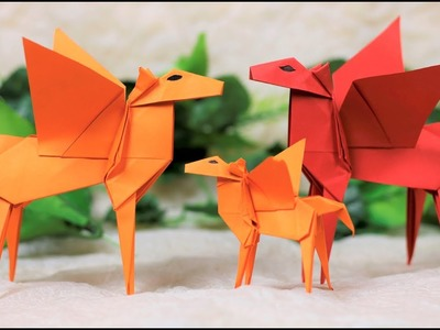 Paper Folding Art (Origami): How to Make Flying Horse