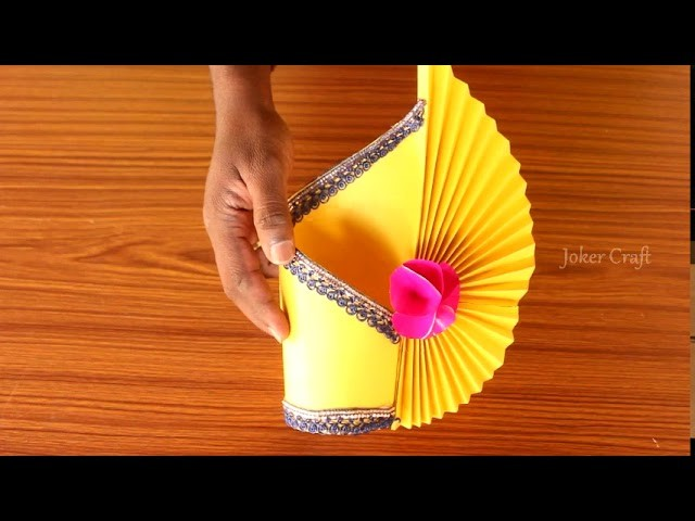Papercraft How To Make A Flower Vase At Home Diy Simple Paper