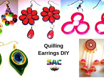 Quilling Earrings | Paper earrings | Jwellery making | How to make quilling earrings | diy jwellery