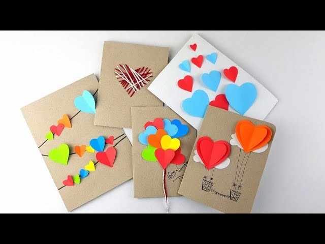 5 Cute Crafts for Valentine Day – DIY Valentine Card Designs – Beautiful Valentine Gift for Him