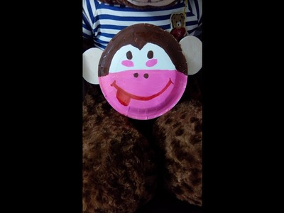 A PAPER PLATE MONKEY.kids DIY.Easy arts and crafts for children ages 3-above