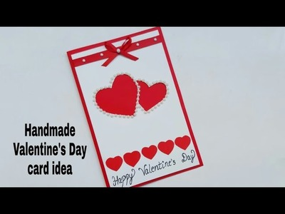 Beautiful Handmade Valentine's Day Greeting card idea | DIY Valentines day card | complete tutorial