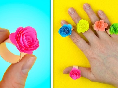 Beautiful Rose Ring | Handmade Paper crafts for kids