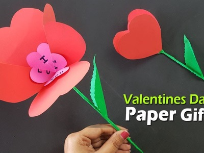 Beautiful Valentines Day Paper Flower Making - Valentine's Day Gift Ideas | Paper Girl