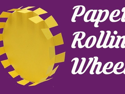 Believe it or not rolling wheel for 40secs. Unstoppable Paper Rolling Wheel, Easy Origami for kids