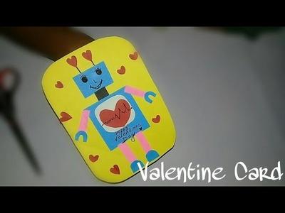 CARD FOR VALENTINE GIFT||ROBOT CARD  FOR VALENTINE GIFT|| KOPI KO DIY