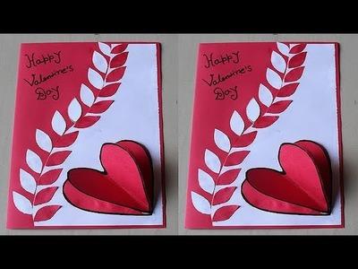DIY -  Beautiful Handmade Valentine's Day Card Idea | DIY Greeting Cards for Valentine's Day card
