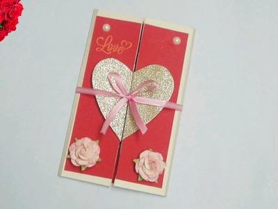 DIY Heart Greeting Card. Handmade Card. Beautiful Handmade valentine's day card