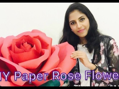DIY Large Rose Flower (Giant Paper Flower) | Paper Flower Backdrop For Wedding. Events | Red Rose