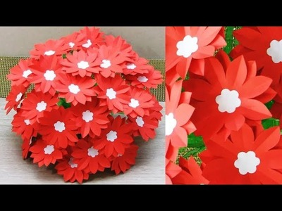DIY.NEW DESIGN PAPER FLOWER GULDASTA. WASTE PLASTIC BOTTLE FLOWER POT. FLOWER VASE. 29