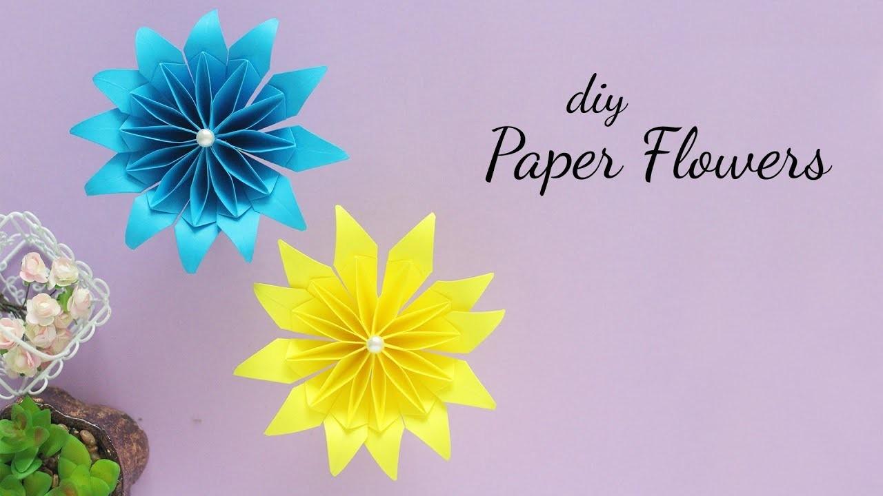 DIY Paper Flower |  Easy Paper Flowers | Paper Crafts