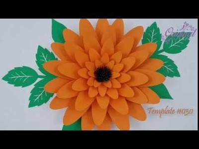 DIY Paper Flower || Flower Template 030 || DIY Decor
