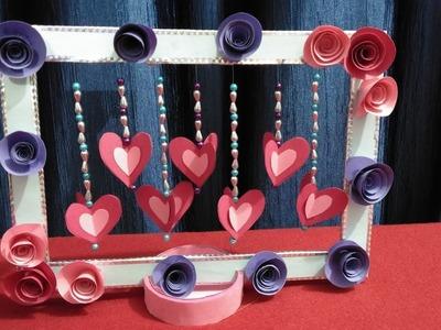 Diy Paper Heart Showpiece. Diy Valentines Day Crafts