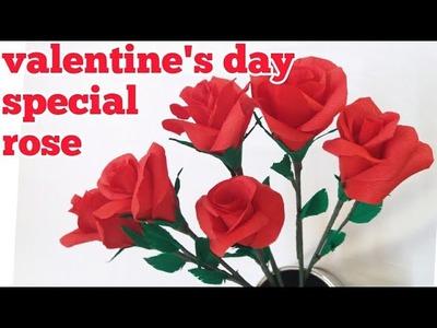 DIY paper rose valentine's day special rose