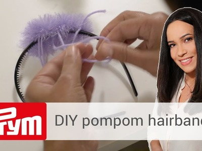 DIY pompom hairband with Pompom Maker | Nandini Mitra
