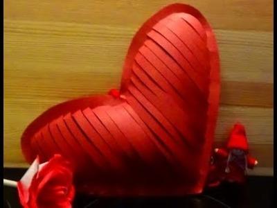 DIY  Simple beautiful Paper Heart # Valentines  Decoration Ideas