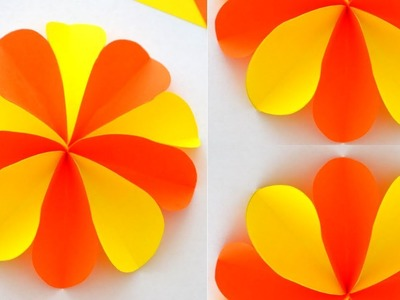 Double Colour Paper flower making in Tamil    How to make paper flower   Tamil Crafts