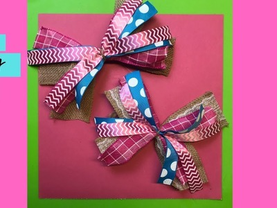 Easiest Bow Tutorial - How to Make a Bow - DIY