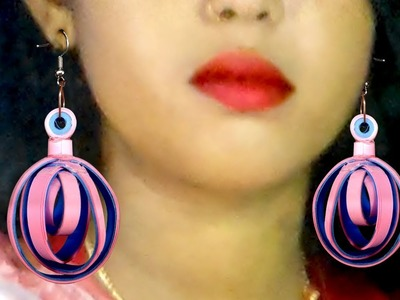 Easy and awesome quilling earrings for girls | Diy paper earrrings |