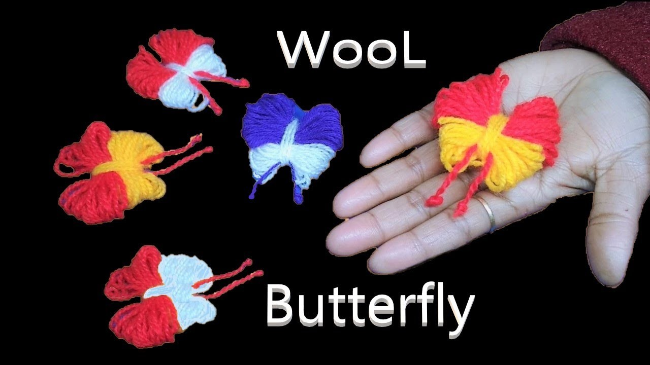 Easy Butterfly Making Technique || Woolen Butterfly || DIY || Hand Embroidery || Woolen Craft |तितली