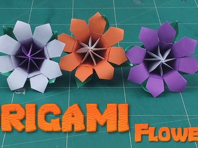 Easy Origami Christmas Flower | How To Make a Simple Flower Tutorials | DIY 3D Flower Craft Ideas