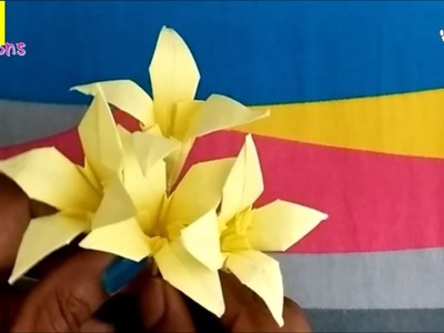 Easy paper flowers | origami flowers | paper flowers making | easy decor ideas with paper