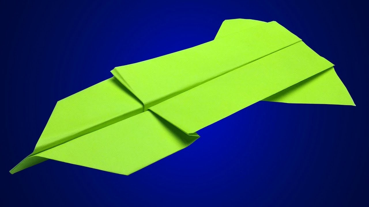 How to make a paper airplane stay in the air the longest