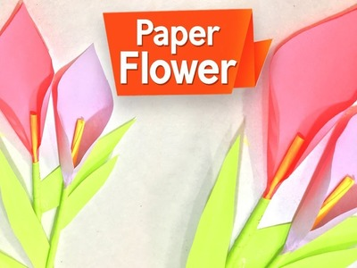 How To Make A Paper Flower | DIY Crafts Ideas For Home Decor | Easy Paper Flowers Making | Do Craft