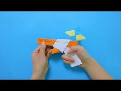 How To Make a Paper Gun That Shoots Ninja Stars - With Trigger | DIY paper crafts step by step