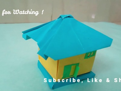 How to Make Paper Hut | Step By Step create simple Paper Hut, Paper Art and Craft for Kids