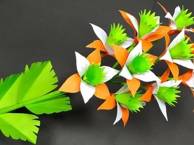 Paper Flower: DIY Beautiful Stick Paper Flower | Flower with Paper Idea | Abigail Paper Crafts