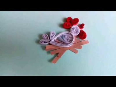 Paper quilling animal easy for kids