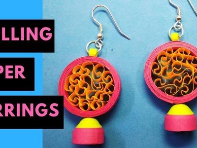 Paper quilling earrings | DIY paper earrings